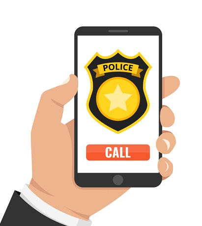 Call the police to get your mobile back