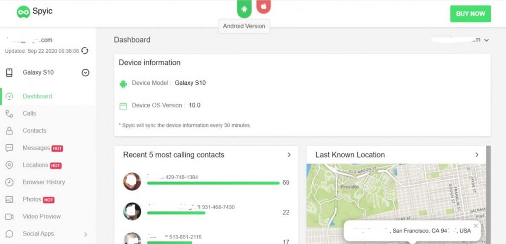 Track lost android mobile using Spyic for free