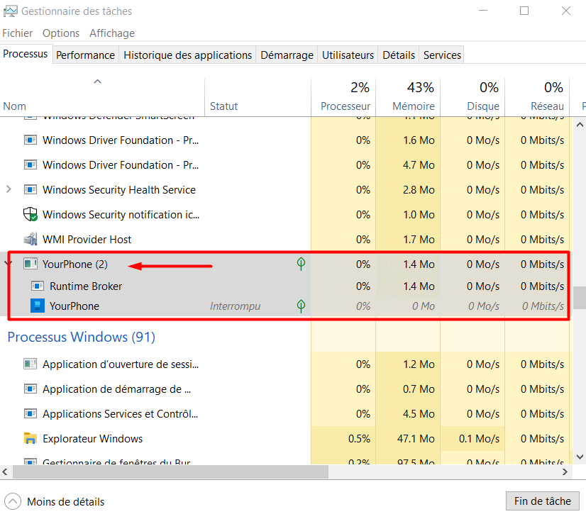 Meaning of Yourphone.EXE App in Windows 10