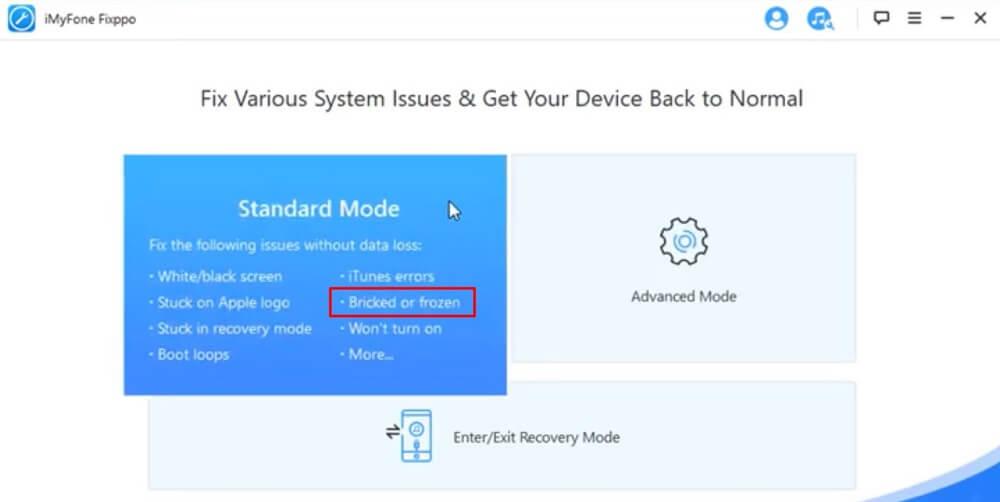 iMyFone.Fixpp fix touchscreen problem