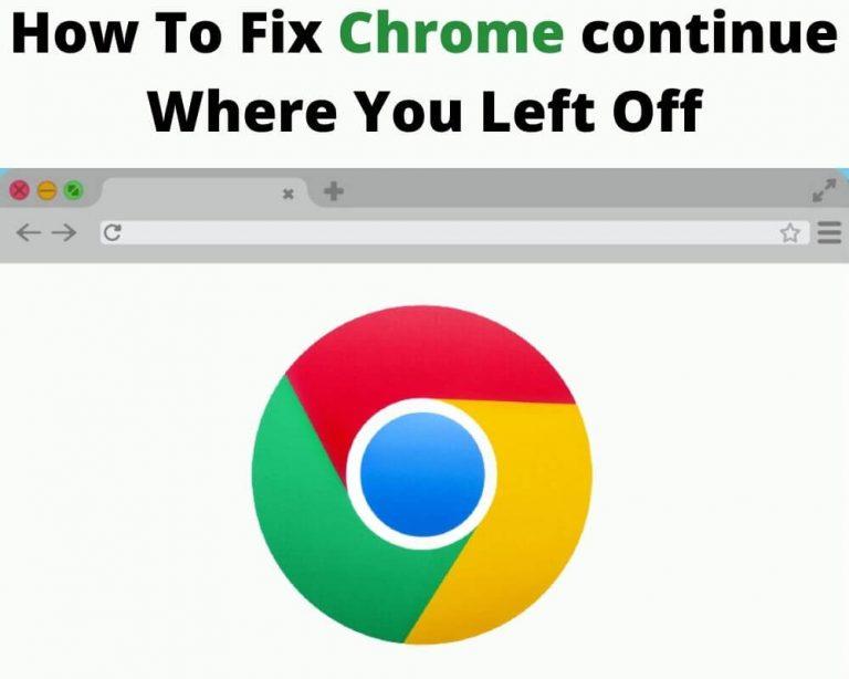 Fix Chromecontinue Where You Left Off