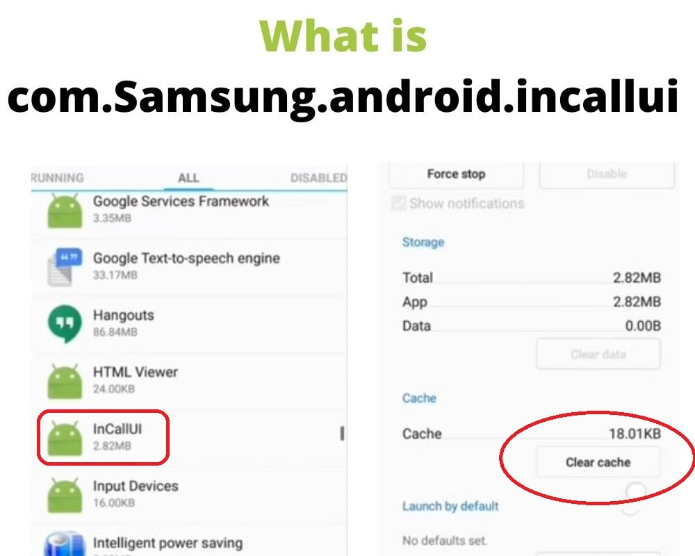 What is com.Samsung.android.incallui